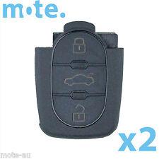 2 x Audi A2 A3 A4 A6 3 Button Remote Key Bottom Part Shell/Case/Enclosure