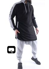 1 x Sunna oberteil Islamische Keidung Qabail Qamis Be Hood Farbe Schwarz