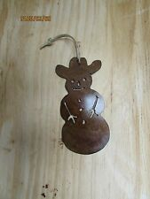 Western Rustic Christmas Ornament Snowman Holiday Home Decor Cowboy