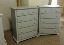 HANDMADE  X 2 (GREY)ARIZONA 2+4 CHEST OF DRAWERS   *NO FLAT PACK**