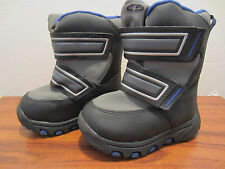 Toddler Little Boys Size 5 Black & Blue SNOW  Boots New