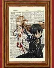 Sword Art Online Kirito Asuna Anime Dictionary Art Print Poster Picture SAO