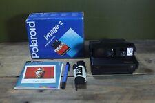 Vintage Polaroid Instant Image 2 Cámara Con Caja correa y bolígrafo Original!