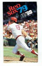 BOSTON RED SOX ~ 1979 Pocket Schedule w/ Yaz cover ~ FREE SHIPPING