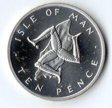 1978 Argento 10p Dieci Penny prova Isola di Man Moneta-Pobjoy Nuovo di zecca Ltd.