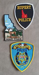 USA - 3 x Different Police Patches - Idaho #3
