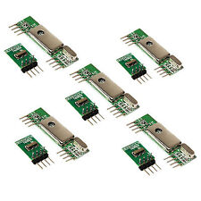 5Pcs 433Mhz Superheterodyne 3400 RF Transmitter Receiver kits for ARM/MCU