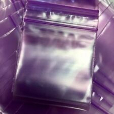 """3MIL 2020 100 ZIP LOCK PURPLE COLOR BAGS 2"""" X 2"""" **3MIL IS 44% THICKER THAN 2MIL"""