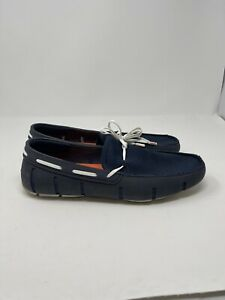 SWIMS Mens Boat Loafer Dockside Mesh Navy & White Shoes Size 10.5 10 1/2