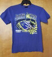 Nascar Jimmie Johnson #48 Blue Graphic Tshirt Hendrick Motorsports Youth 10/12
