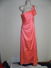 Davids Bridal Dress Size 2 Coral Reef Bridesmaid F14430 Prom Satin NWT $159