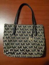 Michael Kors East West Top Zip Signature Logo Tote satchel purse/bag Brand New