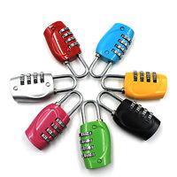 Zinc Alloy Security 4 Combination Travel Suitcase Luggage Code Lock Padlock UK