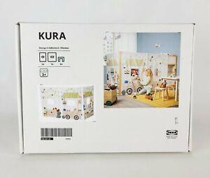 "Ikea KURA Kids Bed Curtain Market Stall Pattern 45""  New"