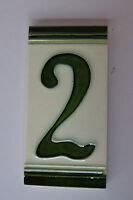 Nummernschild-Keramikfliesen,Nr.2 stellen sie ihre eigene Hausnummer zusammen