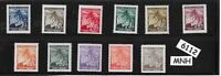 #6112  Full MNH stamp set / WWII German Occupation / Linden Leaves / Third Reich