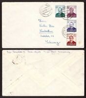 Luxembourg, 1952 Caritas set on registered cover to Switzerland    -BG94
