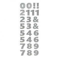Big Glitter Number Stickers, Silver, 2-Inch, 26-Piece