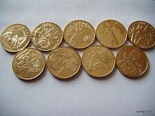 Poland 2 ZL Complete Set 9 Coins 2001 NG (Billig) E