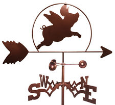 Flying Pig Weathervane (Garden Mounting Included)