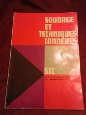 SOUDAGE ET TECHNIQUES CONNEXES - COLLECTIF