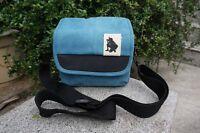 Blue messenger /canvas bag case for Canon Powershot SX540 HS, SX420 IS, G3X SX60