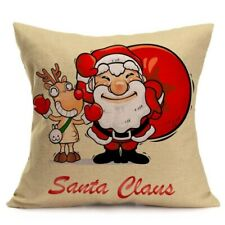 Vintage Christmas Cartoon Smowman Penguin Sofa Bed Home Decoration Festival