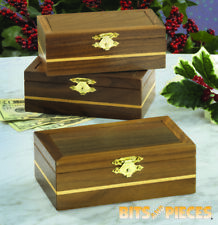 Bits and Pieces-Snap Latch Wooden Puzzle Box-Brain Teaser Money Gift