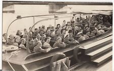 Excursion Boat Party c 1950's RP PPC,, Probably Dutch, Plain Back