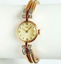 Cirsa señora reloj de pulsera 18 quilates 750 oro 27,1 g 12 ROSÉGOLD rubíes 16 diamantes