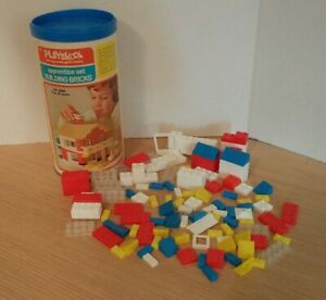 VINTAGE PLAYSKOOL 1974 Apprentice Set BUILDING BRICKS Ages 5-10