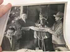 Vintage Horse Racing Press Photo Kendall Supreme Court Justice William Douglas