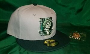 Hat Club Exclusive Clink Room Stone Dead Presidents Green UV Fitted Hat 7 3/8