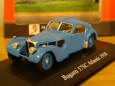ATLAS EDITIONS BUGATTI TYPE 57 SC ATLANTIC 1938 BLUE CAR MODEL HM06 1:43