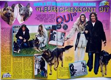 CHRISTIAN DELAGRANGE et SHEILA => coupure de presse 2 PAGES 1974 + PIERRE BILLON