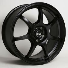 17x7.5 Enkei GT7 4x100 +42 Black Wheels (Set of 4)