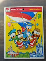 VTG 1976 Whitman Disney's America On Parade Frame Tray Puzzle Disney Donald Duck