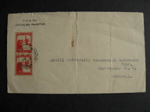 Palestine 1929 cover to Canada, faulty, check it out!