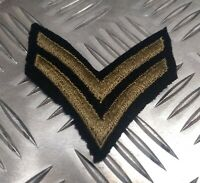 Genuine Vintage Military Issue Engineers Division CPL Flashes Two Chevrons ERN1Z