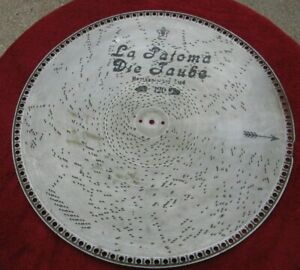 "Antique 18.50"" Swiss Music Box Disc LA PALOMA #120 Empress Concert Grand?~xa"