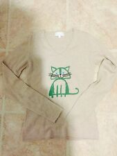 Paul And Joe Cashmere Kitty Cat Sweater Euc S Intarsia