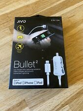 Genuine Jivo Bullet 2 In-Car Lightning Charger For Apple iPhone - Fast Charge