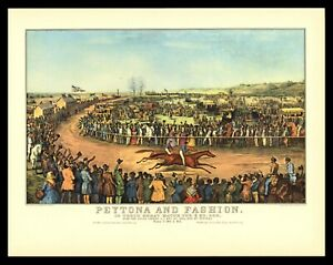 Currier & Ives Art Print - Peytona And Fashion Horse Race Union Course 1845