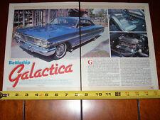 1964 FORD GALAXIE 500 XL - MUSCLECAR - ORIGINAL 1985 ARTICLE