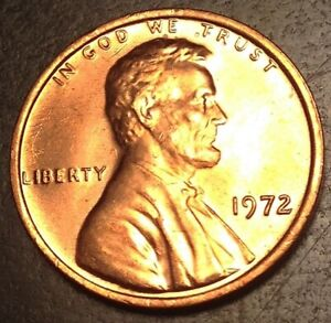 1972 P Uncirculated Lincoln Memorial Cent #605