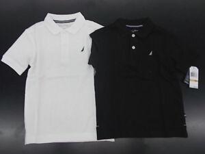 Boys Nautica $26.50 White or Black Polo Shirts Size 4 - 7X