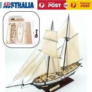 Harvey Ship Assembly Model Wooden Sailing Boat DIY Kits Decor Toy Gift AU