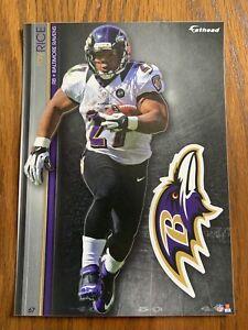 RAY RICE 2013 Baltimore Ravens uni w/ Logo Fathead Mini Card #67 L@@K