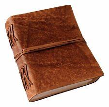 Brown Classic Luxury Handmade Genuine Leather Journal - Leather Cord Coptic Bind