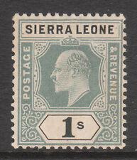 SIERRA LEONE 1904 1905 #95a VARIETY DAMAGED FRAME & CROWN EDV11 MINT MCA STAMP